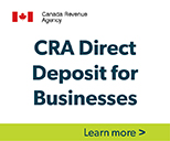 CRA Direct Deposit for businesses